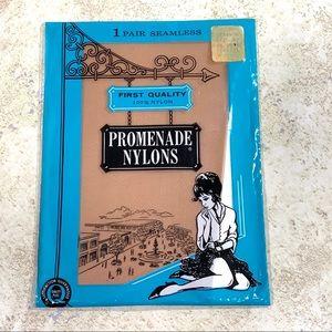 1960 Promenade Nylons Seamless Stockings Cinnamon